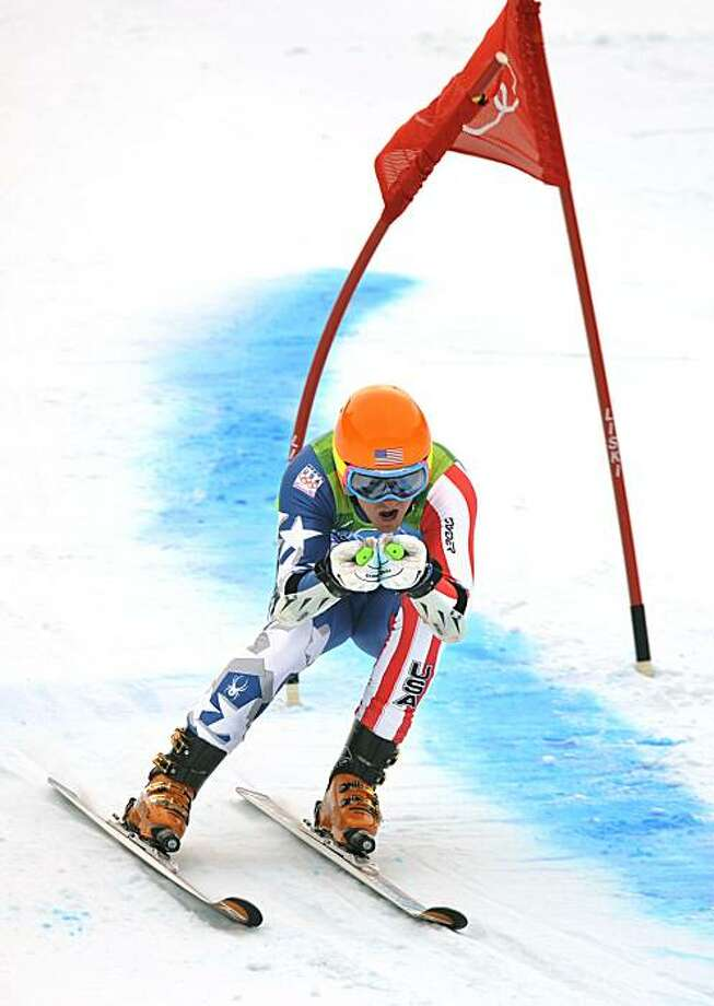 The United States' Ted Ligety competes in the men's Giant Slalom ski races at Whistler Creekside in Whistler, B.C., on Tuesday, February 23, 2010, during the Olympic Winter Games. (Wally Skalij/Los Angeles Times/MCT) Photo: Wally Skalij, MCT