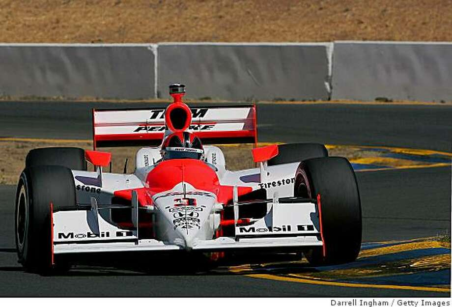 SONOMA, CA - AUGUST 22: Helio Castroneves drives the #3 Team Penske Dallara Honda during practice for the IRL IndyCar Series PEAK Antifreeze & Motor Oil Indy Grand Prix of Sonoma County on August 22, 2008 at the Infineon Raceway in Sonoma, California.  (Photo by Darrell Ingham/Getty Images) Photo: Darrell Ingham, Getty Images