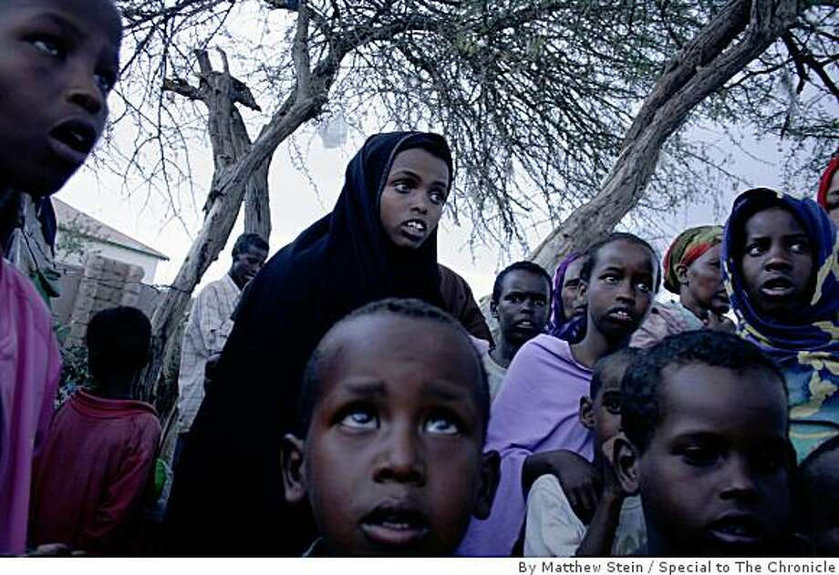 Some of the 3,000 Oromo refugees who have fled Ethiopia for the safety of neighboring Somaliland, a self-declared independent republic. Photo: By Matthew Stein, Special To The Chronicle