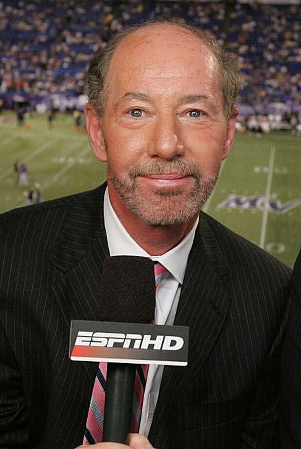 "FILE - In this Aug. 14, 2006, file photo, ESPN Monday Night Football television broadcast analyst Tony Kornheiser poses for a photo before the Oakland Raiders-Minnesota Vikings football game in Minneapolis. ESPN has suspended host Kornheiser from his television talk show ""Pardon the Interruption"" for comments he made on the radio last week about SportsCenter anchor Hannah Storm's clothing. Kornheiser announced the suspension on his Washington D.C. radio show on Tuesday morning, Feb.23, 2010, calling his remarks about Storm intemperate and stupid. Photo: Jim Mone, AP"