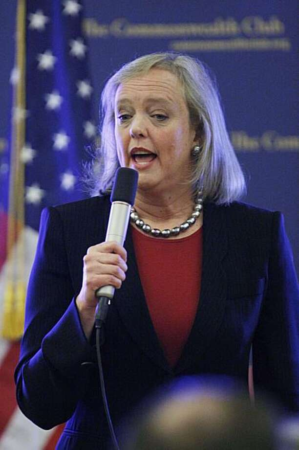 Meg Whitman, who is running for governor of California, speaks in Lafayette, Calif., Tuesday, Feb. 16, 2010. Photo: Paul Sakuma, AP