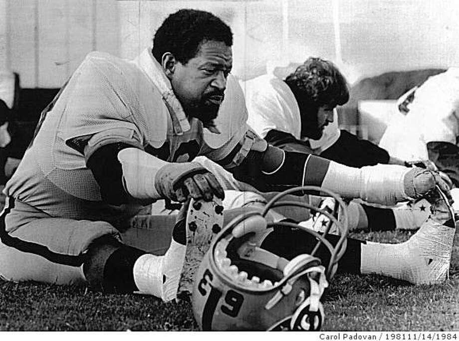 upshaw.jpg Oakland Raiders Gene UpshawUPI / Carol Padovan / 1981 Photo: Carol Padovan / 198111/14/1984