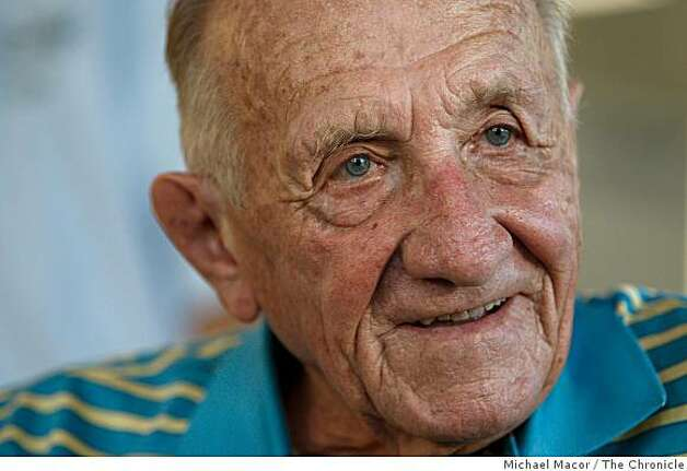 95 year old Alex Tarics of Belvedere, Calif. was a water polo player on the 1936 Hungarian team which won the gold medal. He traveled to the Beijing Olympic to watch his old team compete in the games,  taking on Montenegro, on Friday,  Aug. 22, 2008. Photo: Michael Macor, The Chronicle
