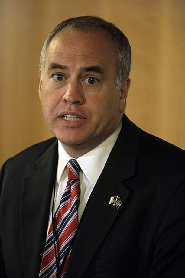 FILE - In this Sept. 16, 2009 file photo, New York State Comptroller Thomas P. DiNapoli speaks during a news conference in New York. Wall Street bonuses were up 17 percent to over $20 billion in 2009, the year taxpayers bailed out the financial sector after its meltdown, DiNapoli said Tuesday, Feb. 23, 2010. Photo: Mary Altaffer, AP