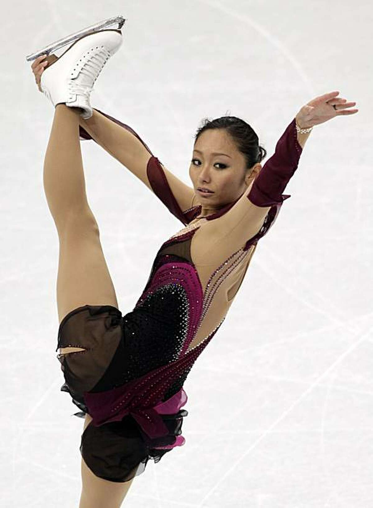Japan's Miki Ando works on her routine during training for the Vancouver 2010 Olympics in Vancouver, British Columbia, Monday, Feb. 22, 2010.