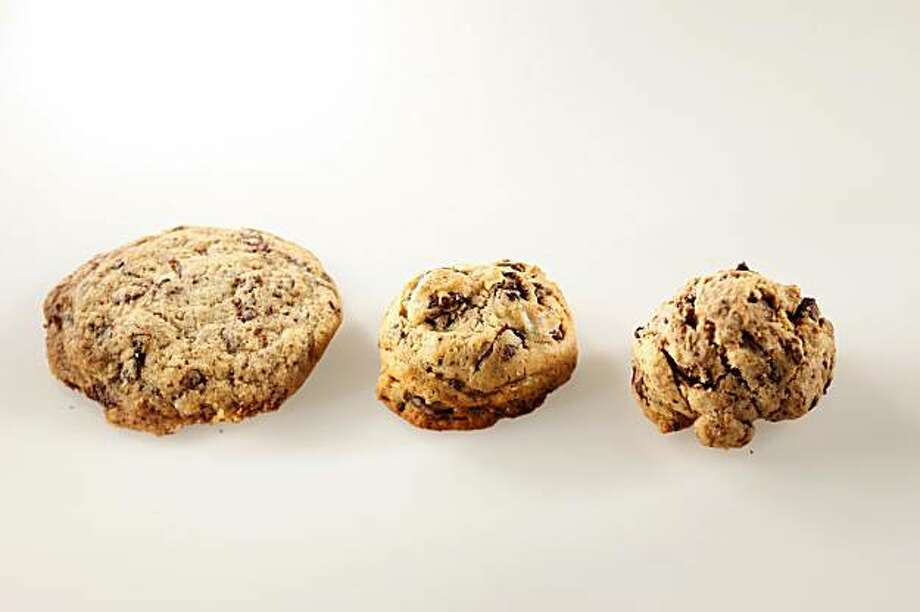 Cookie made with sugar (left), agave nectar (middle) and stevia (right) in San Francisco, Calif., on February 3, 2010. Photo: Craig Lee, Special To The Chronicle