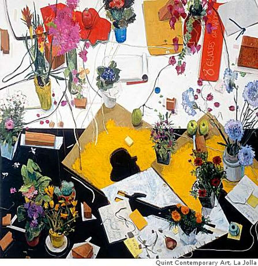 """Cezanne avait ecrit"" (1986) oil on board by Manny Farber72"" x 72""Collection of Charles J. Williams & Sharon M. Little Photo: Quint Contemporary Art, La Jolla"