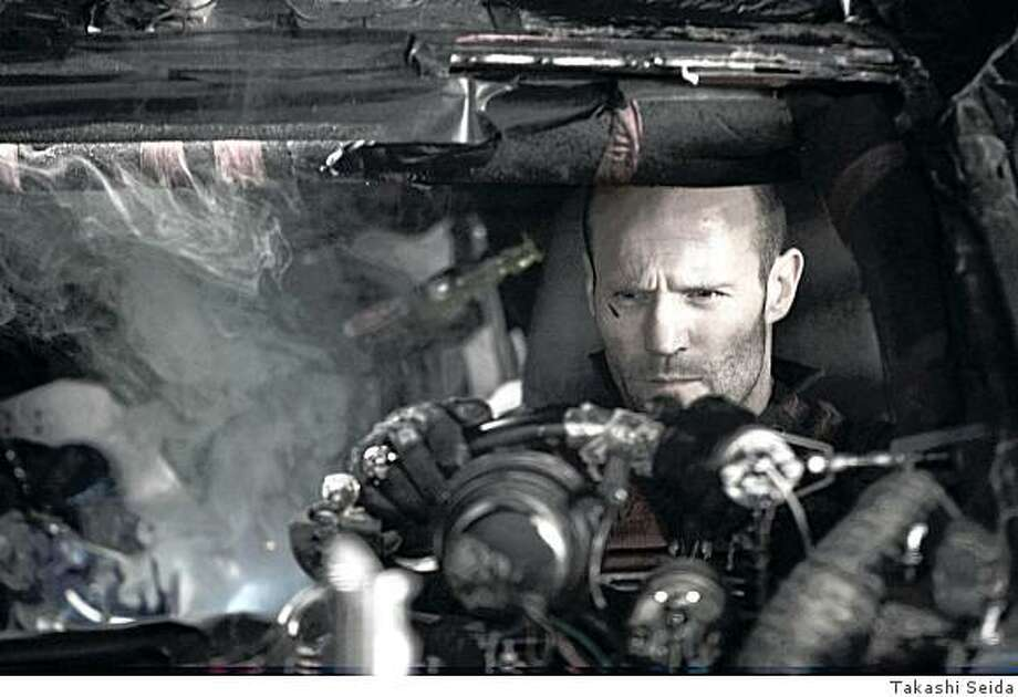 """JASON STATHAM as Jensen Ames in an action-thriller set in the near future, with the world's most brutal sporting event as its backdrop in """"Death Race."""" Photo: Takashi Seida"""