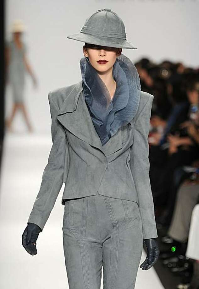 A model walks the runway in a look by Marina Solomatnikova at the Academy of Art University Fall 2010 fashion show during Mercedes-Benz Fashion Week at The Tent at Bryant Park on February 13, 2010 in New York City. Photo: Frazer Harrison, Getty Images
