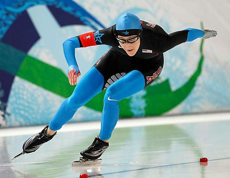 USA's Jennifer Rodriguez competes in the 500 Meter Ladies Speed Skating event during the 2010 Winter Olympics in Vancouver, British Columbia, Tuesday, February 16, 2010.  (Harry E. Walker/MCT) Photo: Harry E. Walker, MCT