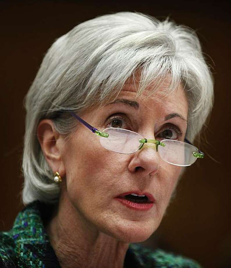 Health and Human Services Secretary Kathleen Sebelius testifies on Capitol Hill in Washington, Thursday, Feb. 4, 2010, before the House Committee Energy and Natural Resources Committee hearing on the HHS fiscal 2011 budget. Photo: Manuel Balce Ceneta, AP