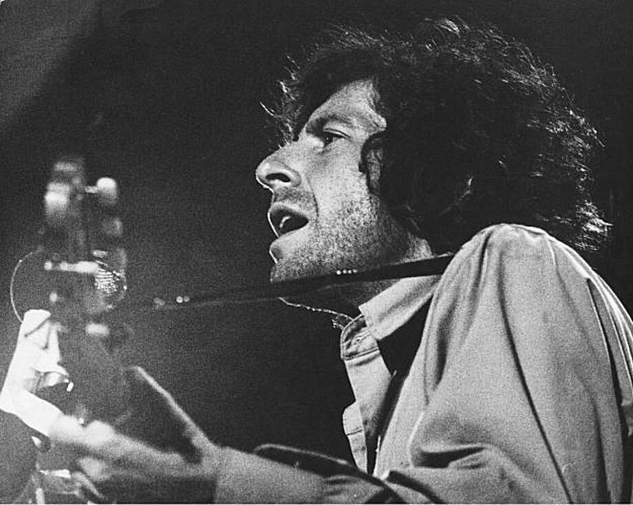 Leonard Cohen Live at the Isle of Wight 1970 Photo: Brian Moody, REX Features