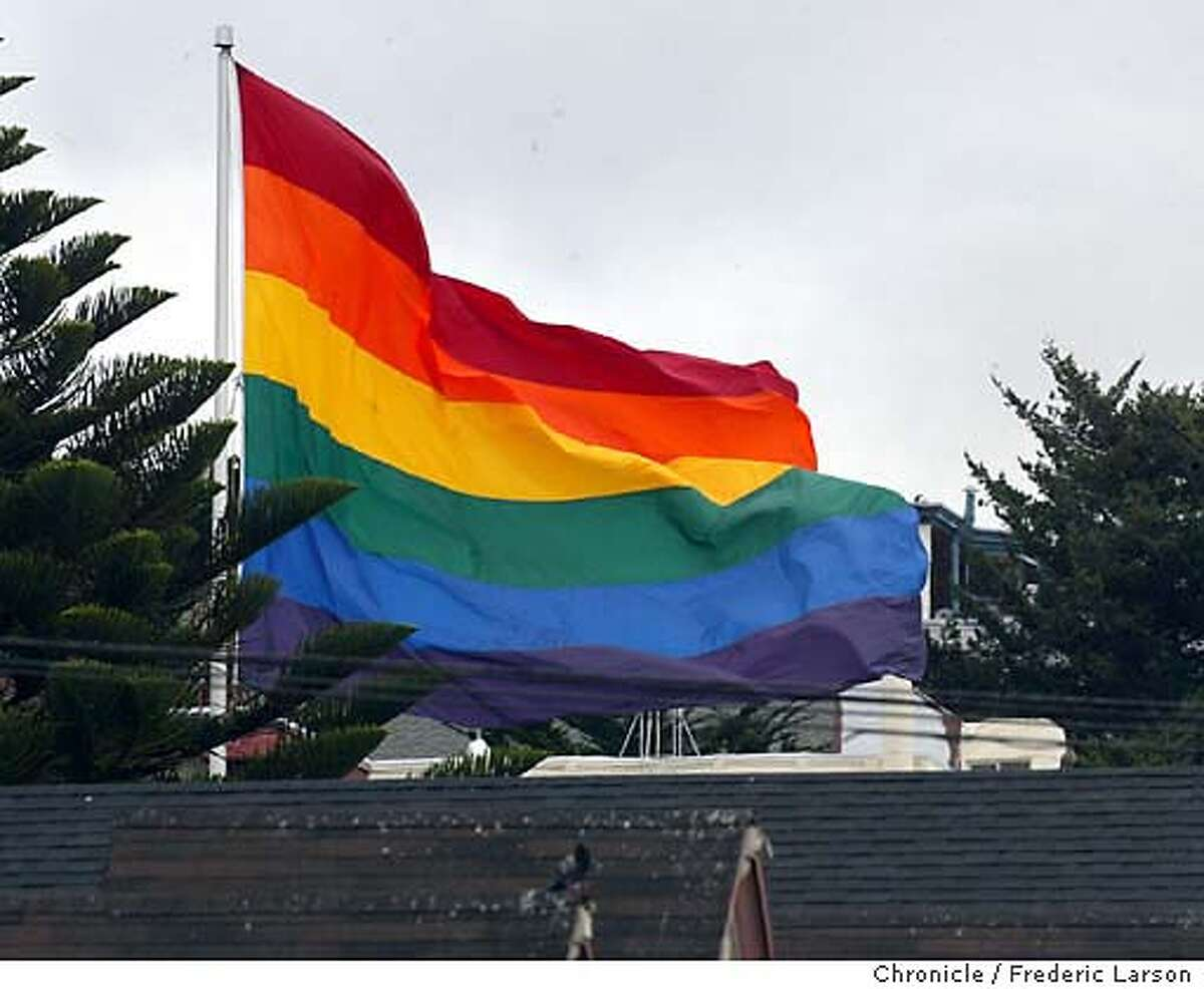 ; How's is the Castro district viewing the upcoming Mayor election? Chronicle reporter Pat Yollin writing an overview with overview photographs. General location pics a 18th and Castro street and the Rainbow Flag flying over Castro and Market. FREDERIC LARSON / The Chronicle