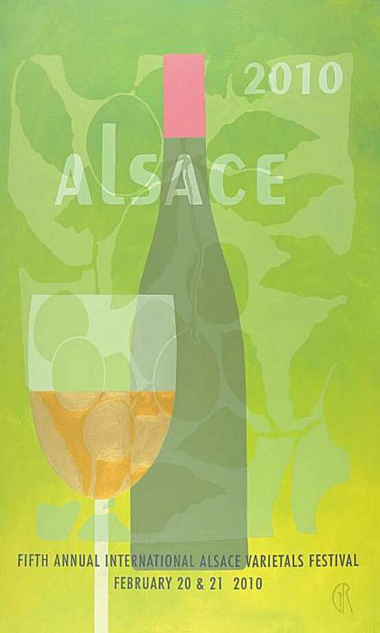This year's International Alsace Varietals Festival art. Photo: Anderson Valley Winegrowers Asso