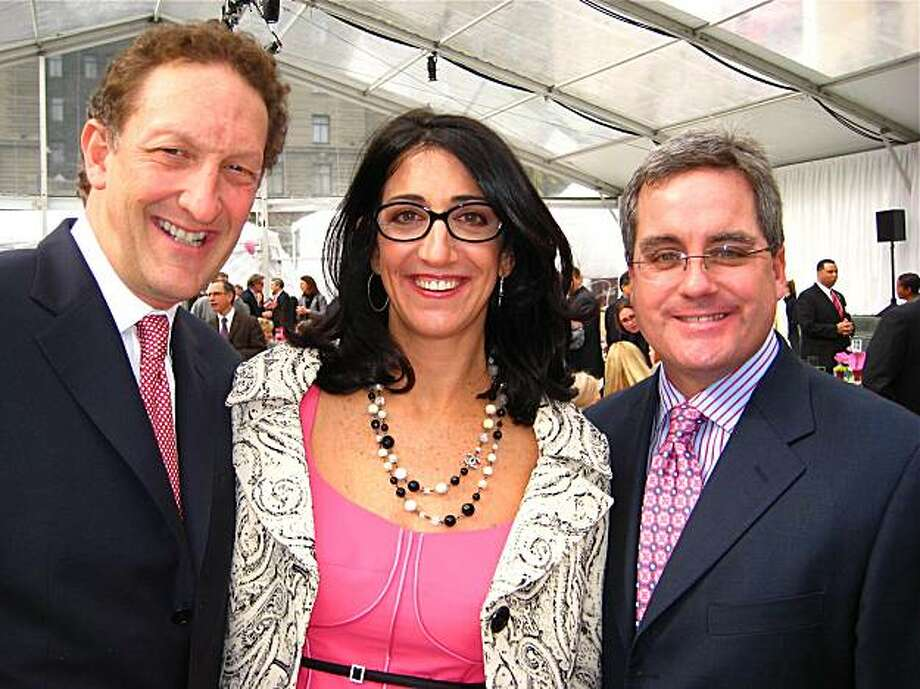 Larry Baer, his wife Pam Baer and City Attorney Dennis Herrera at the Heroes & Hearts Luncheon. February 2010. Photo: Catherine Bigelow, Special To The Chronicle