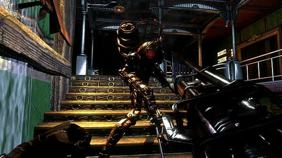 A screenshot of a Big Sister from 2k Games' horror first-person shooter BioShock 2. Photo: 2K Games