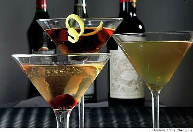 Cocktails styled by the Chronicle food department containing vermouth as the shadow ingredient in San Francisco, Calif., on Thursday, August 7, 2008. Photo: Liz Hafalia, The Chronicle