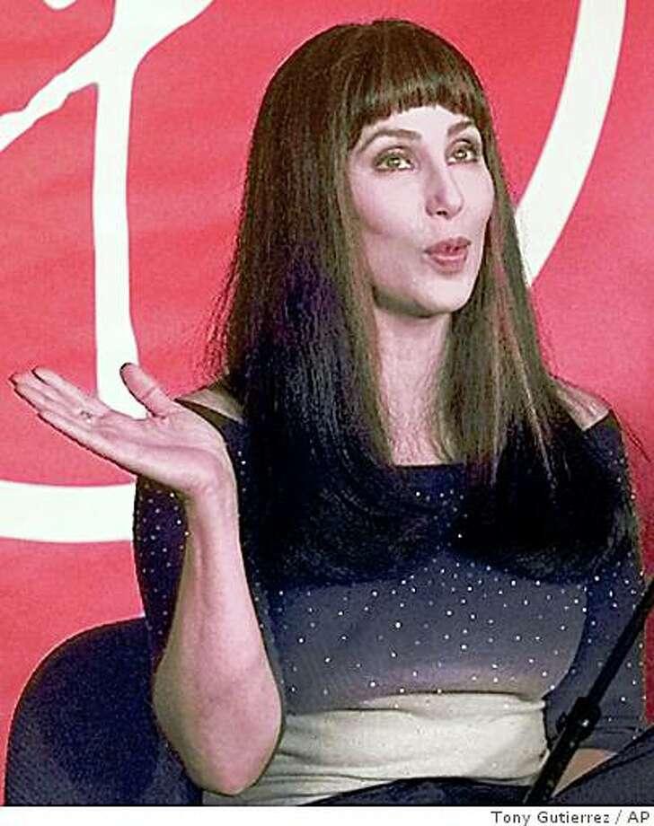 Cher shown in '99 file photo Photo: Tony Gutierrez, AP