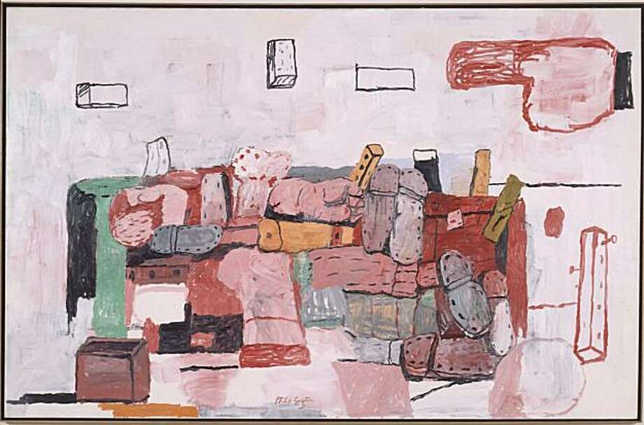 """Evidence"" (1970) oil on canvas by Philip Guston  75.25"" x 114.25"" Photo: Courtesy, S.F. Museum Of Modern Art"
