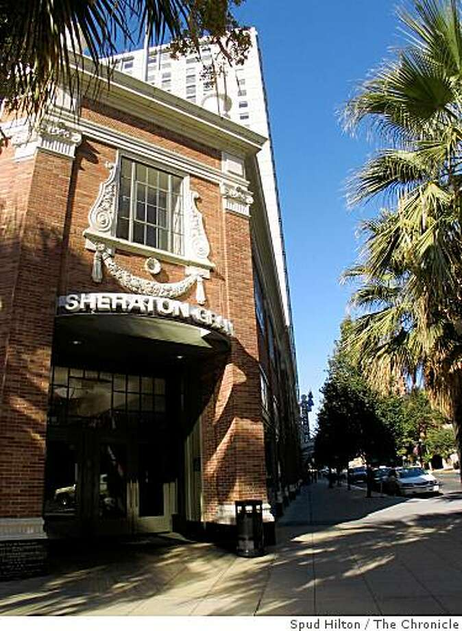 The Sheraton Grand Sacramento Hotel in Sacramento. Photos for Under Covers, Undercovers. Photo: Spud Hilton, The Chronicle