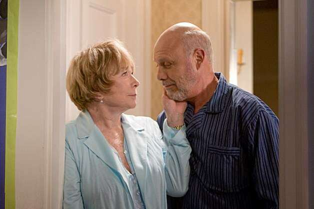 "Shirley MacLaine and Hector Elizondo in Garry Marshall's romantic comedy ""Valentine's Day"" (2010). SHIRLEY MACLAINE as Estelle and HECTOR ELIZONDO as Edgar in New Line CinemaÕs romantic comedy ÒValentineÕs Day,Ó a Warner Bros. Pictures release. Photo: Ron Phillips, New Line Cinema"