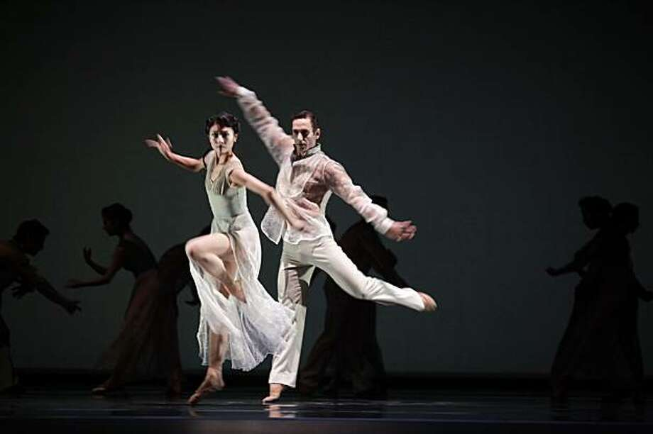"Yuan Yuan Tan and Damian Smith dance in ""Ghost"" during a rehearsal for San Francisco Ballet Program 2 on Tuesday February 9, 2010 in San Francisco, Calif. Photo: Lea Suzuki, The Chronicle"