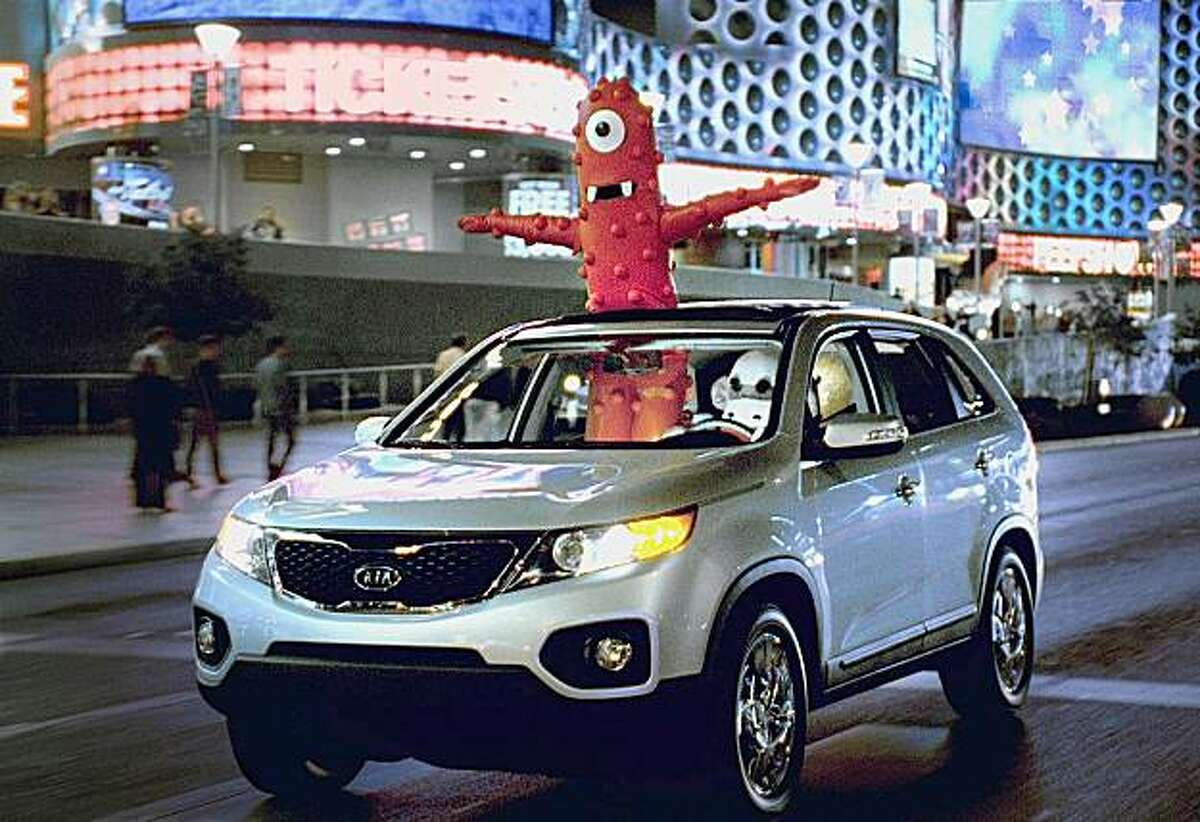 This image provided by Kia shows part of a television ad scheduled to air during the 2010 Super Bowl. (AP Photo/Kia) NO SALES