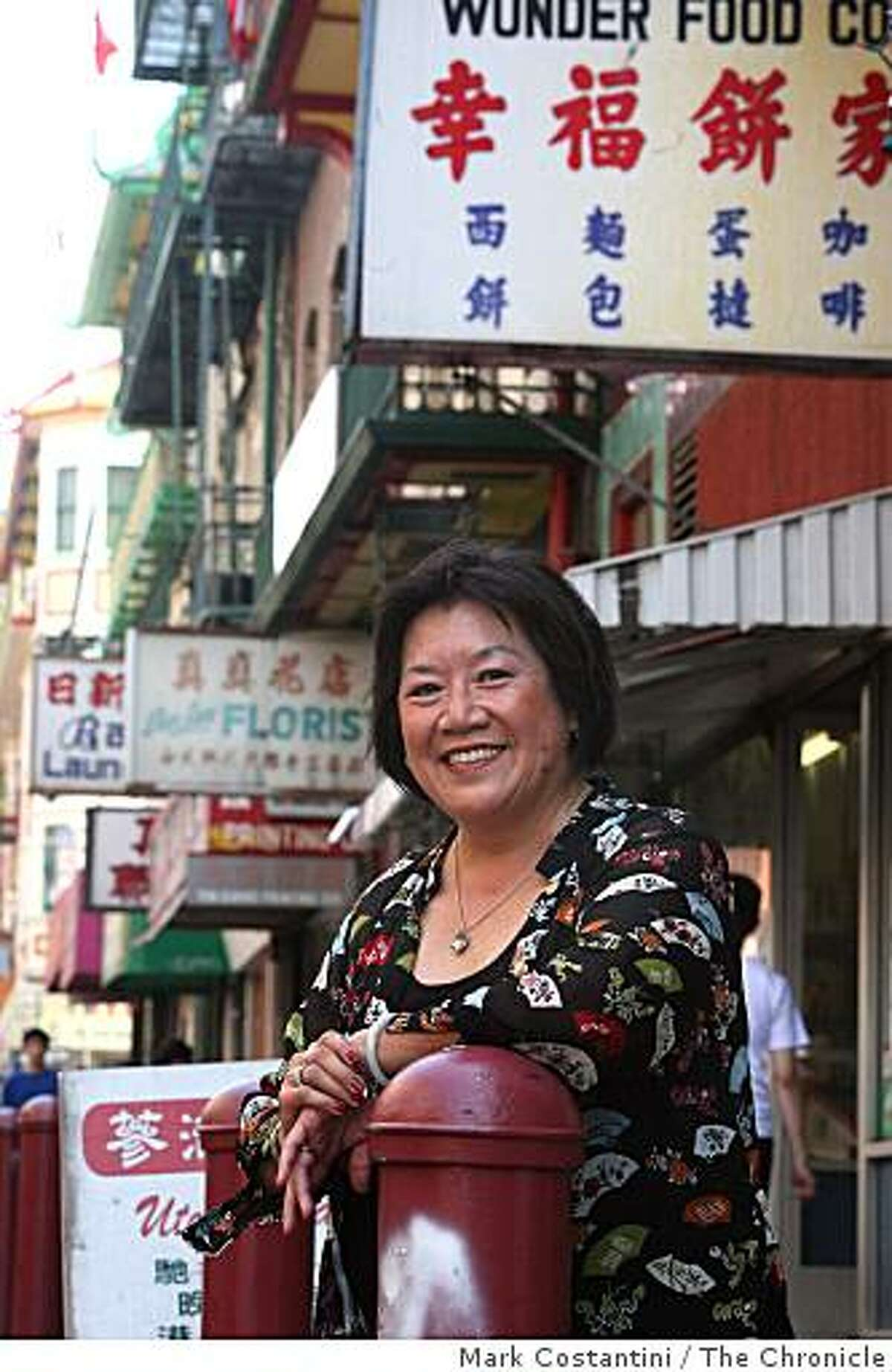 """Shirley Fong-Torres, who has a new book: """"The Woman Who Ate Chinatown."""" poses in Chinatown in San Francisco, Calif., on July 9, 2008. Photo by Mark Costantini / The Chronicle"""