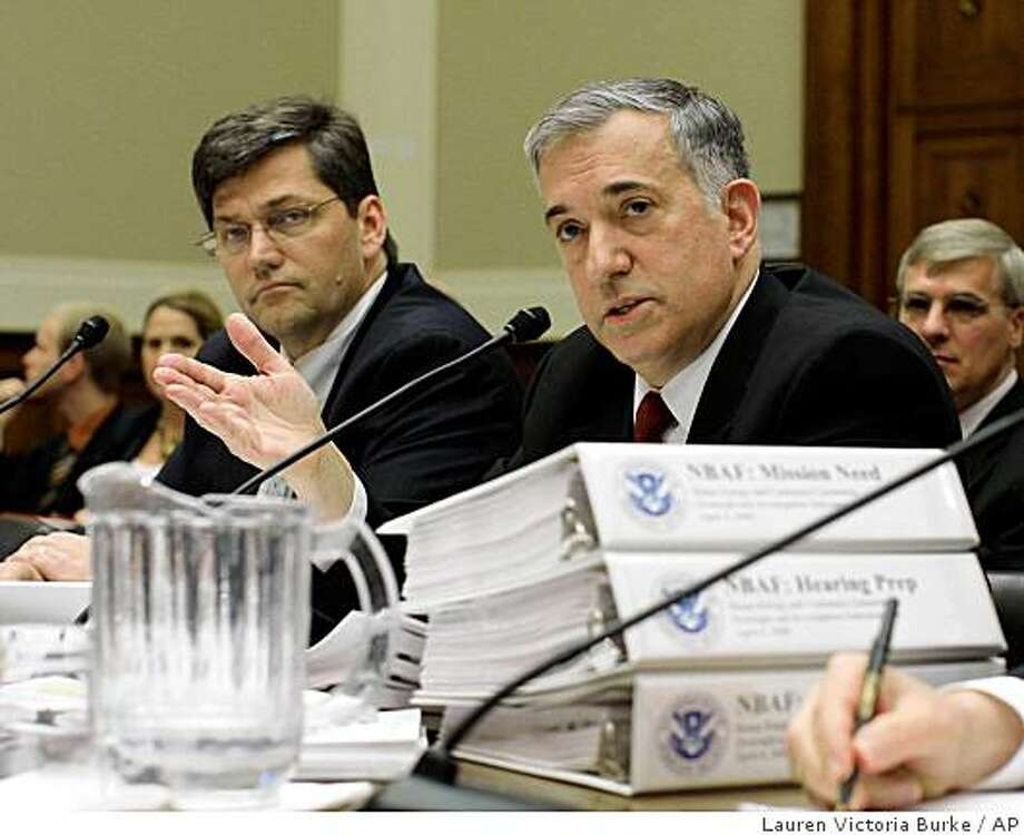 Homeland Security Undersecretary Jay Cohen (right), overruled experts, even though Mississippi ranked 14th among 17 sites Photo: Lauren Victoria Burke, AP