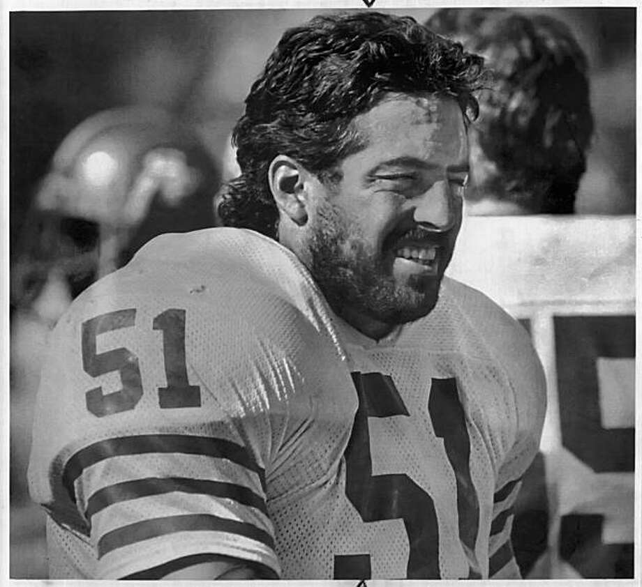 Rocklin, Calif.:  San Francisco 49er Randy Cross watching this morning's practice session.  8/2/87Rocklin, Calif.:  San Francisco 49er Randy Cross watching this morning's practice session.  8/2/87 Photo: Steve Yeater, The Chronicle