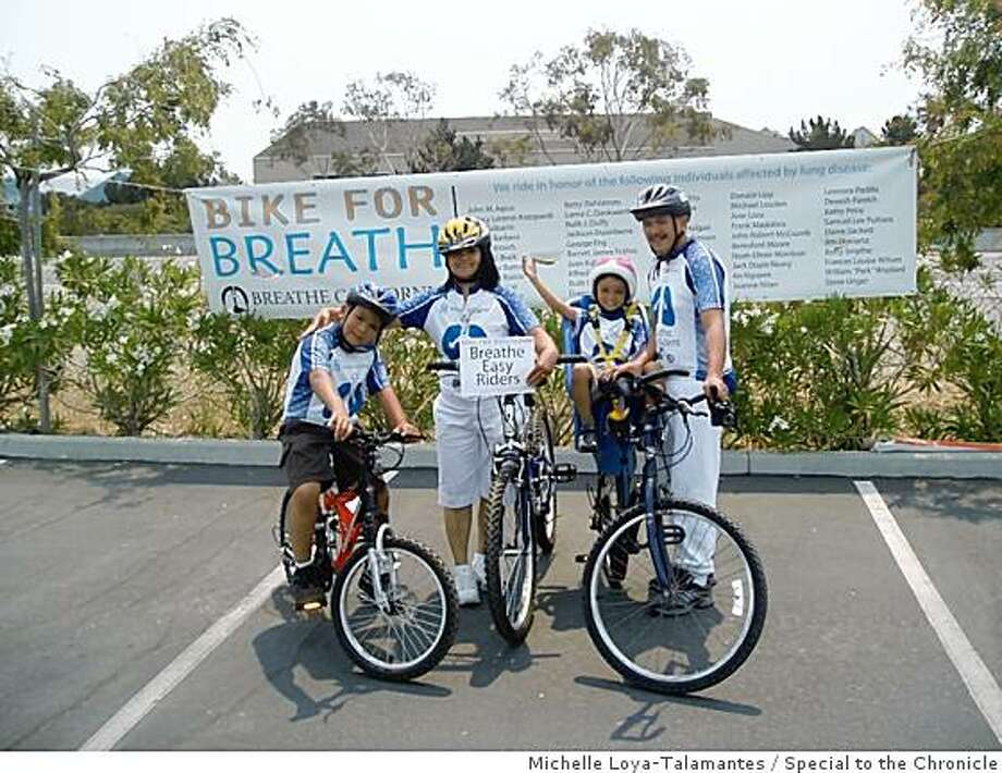 The Estrada Family, Broncus? Breathe Easy Riders Breathe California Held their annual  Bike For Breath event in Foster City and the San Francisco Peninsula. Photo: Michelle Loya-Talamantes, Special To The Chronicle