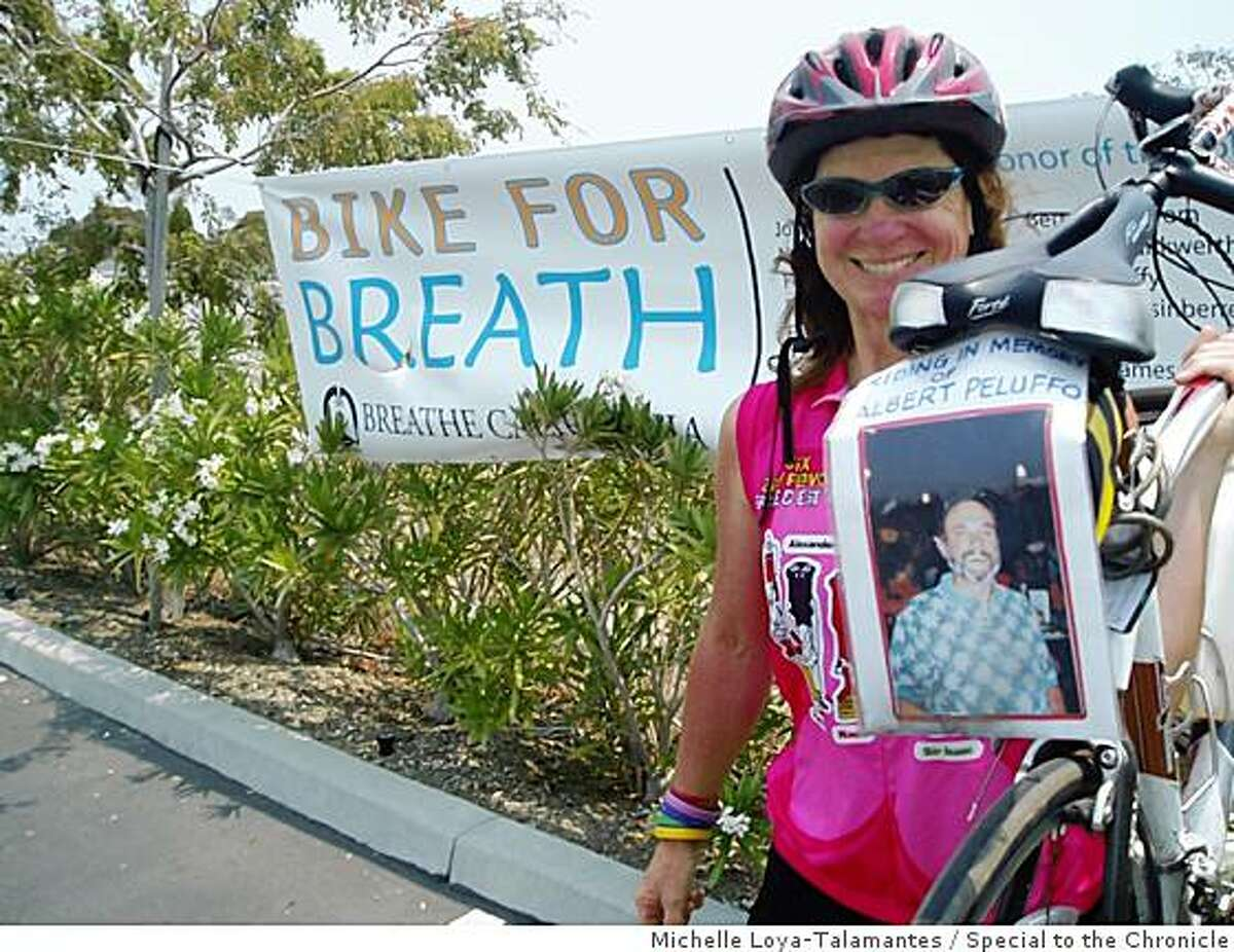 Marey Richin, Riding in Honor of Albert Peluffo Breathe California Held their annual Bike For Breath event in Foster City and the San Francisco Peninsula.