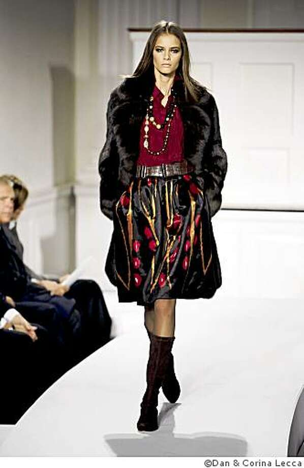 Ikat skirt from Oscar de la Renta 2008 Fall Collection Photo: �Dan & Corina Lecca