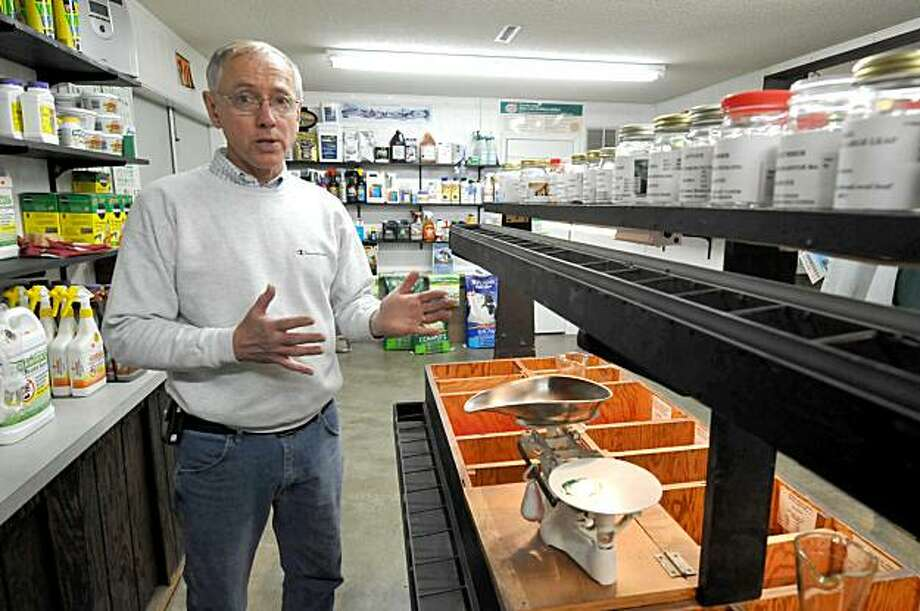 In this photo taken Friday, Jan. 29, 2010, Mel Brekke, owner of Brekke's Town & Country Store, talks about the predicted shortage of certain types of vegetable seeds this summer in Ames, Iowa. Photo: Steve Pope, AP