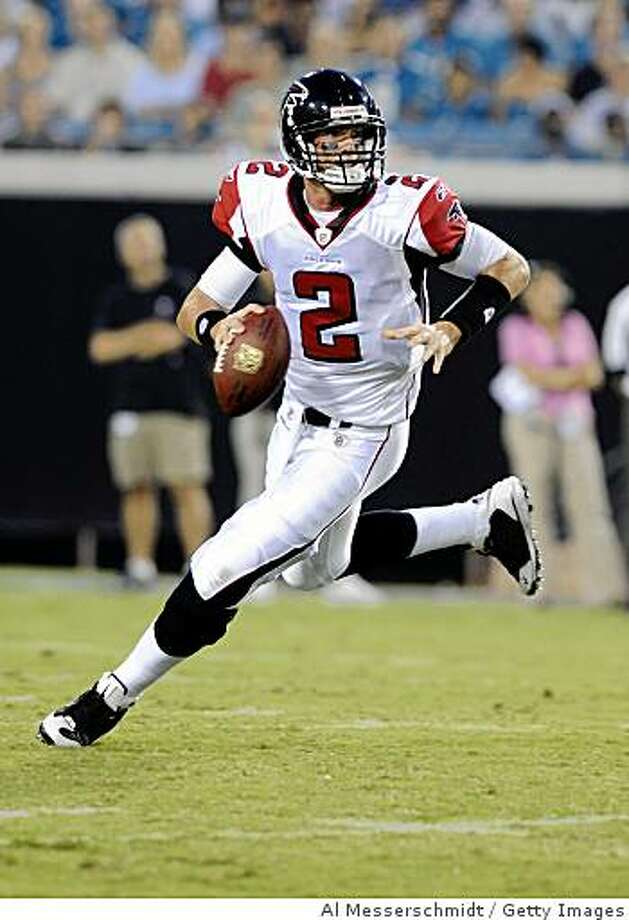 JACKSONVILLE, FL - AUGUST 9: Quarterback Matt Ryan #2 of the Atlanta Falcons sets to pass against the Jacksonville Jaguars at Jacksonville Municipal Stadium on August 9, 2008 in Jacksonville, Florida.   (Photo by Al Messerschmidt/Getty Images) Photo: Al Messerschmidt, Getty Images