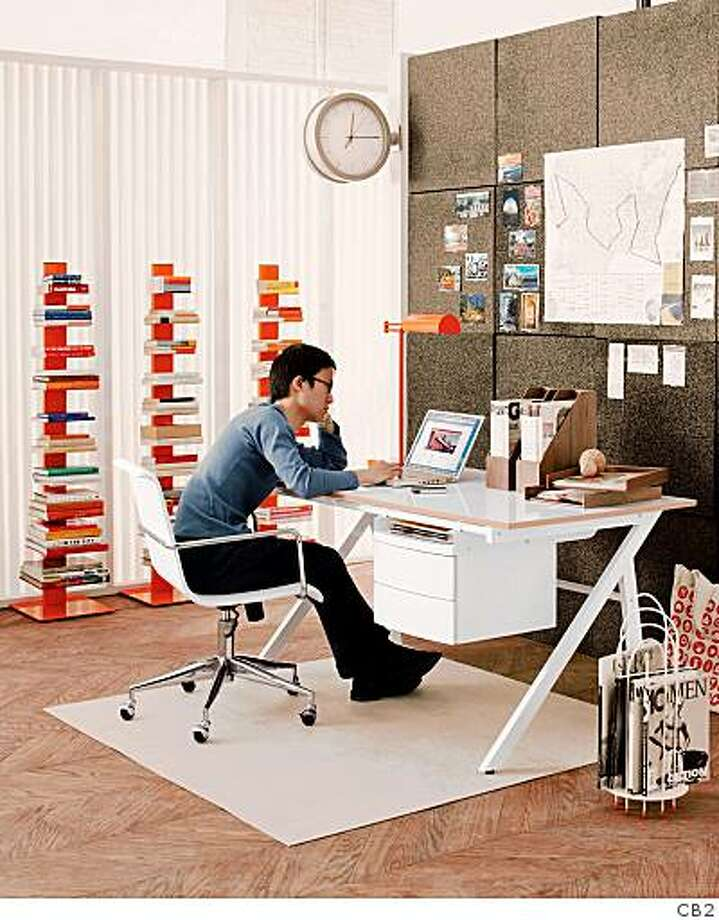 The Graph desk from CB2 combines an expansive workspace (60 inches by 30 inches) with storage beneath, $299. Photo: CB2