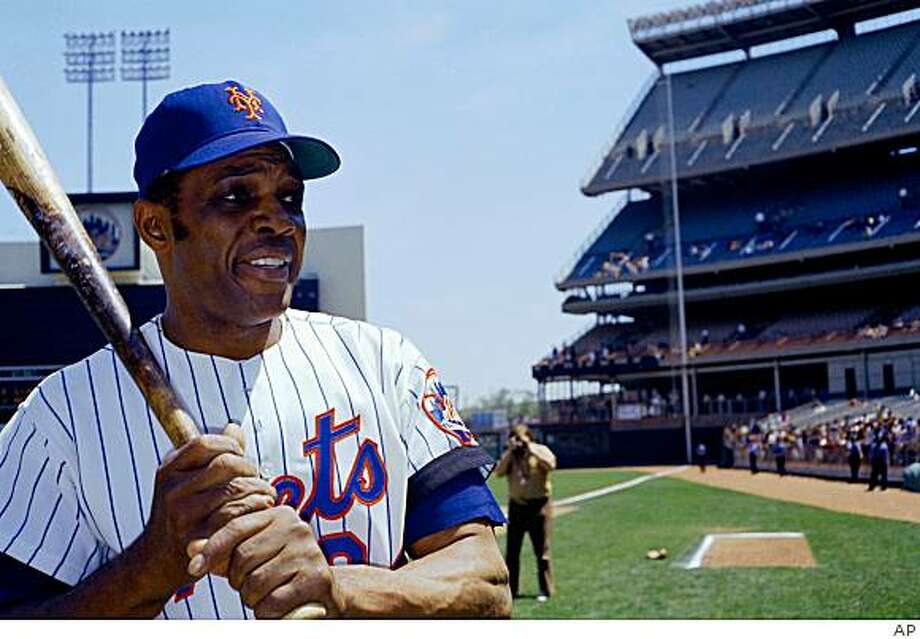 "** FILE ** In this file photo from 1972, New York Mets' Willie Mays is seen at Shea Stadium in New York. Second acts in sports aren't always pretty, even for the great ones. ""You would like for Hall of Fame players to be able to finish the same place they started,"" Tennessee Titans coach Jeff Fisher said. (AP Photo, File) Photo: Anonymous, AP"