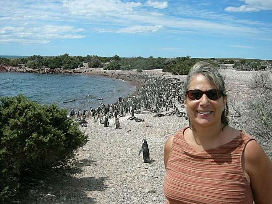 Ruth Schechter at Punto Tombo, Chubut, Argentina Photo: Courtesy Of Ruth Schechter