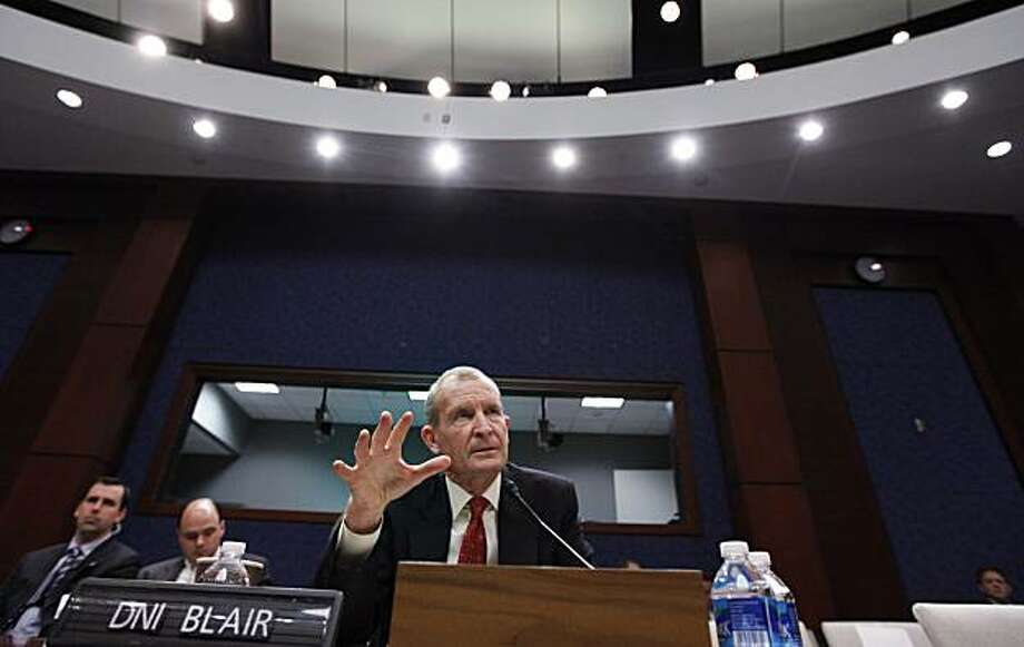 Director of National Intelligence Dennis Blair testifies on Capitol Hill in Washington, Wednesday, Feb. 3, 2010, before the House Intelligence Committee hearing on the annual threats assessment of the U.S. intelligence community. Photo: Manuel Balce Ceneta, AP