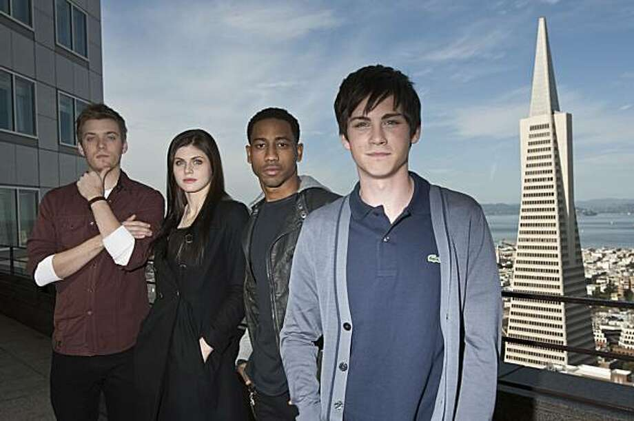 Jake Abel, Alexandra Daddario, Brandon T. Jackson and Logan Lerman (left to right) are the stars of the film Percy Jackson & the Olympians: The Lightning Thief.  Photographed in San Francisco, Calif., on Thursday, Jan. 14, 2010. Photo: Laura Morton, Special To The Chronicle
