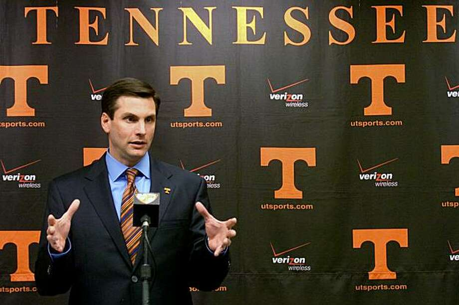 Tennessee head football coach Derek Dooley talks about recruiting and the 2010 signing class during an NCAA college football news conference on Wednesday, Feb 3, 2010 in Knoxville, Tenn. Photo: Saul Young, AP