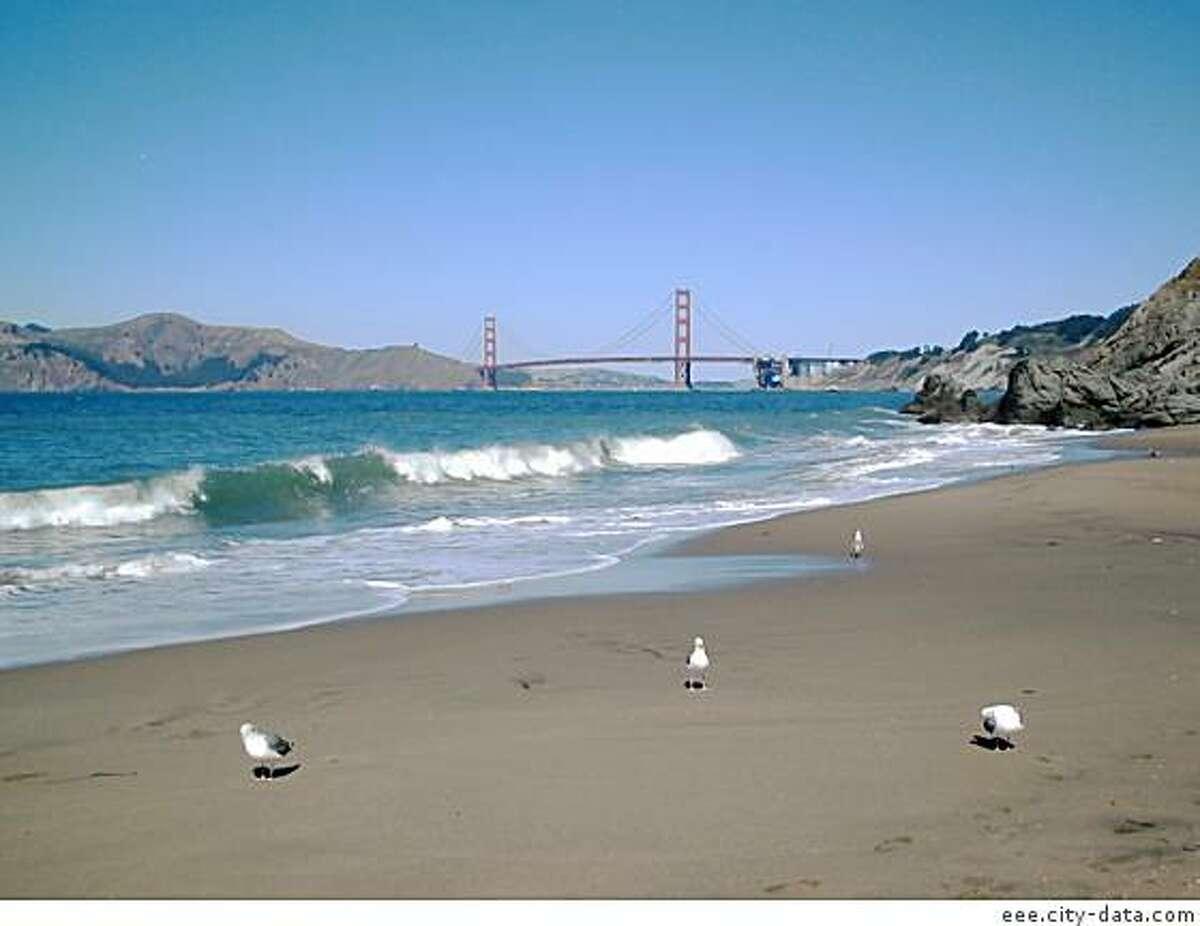Baker Beach in San Francisco.