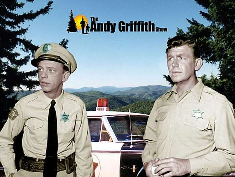 """Don Knotts and Andy Griffith in """"The Andy Griffith Show."""" Photo: Handout, The Chronicle"""