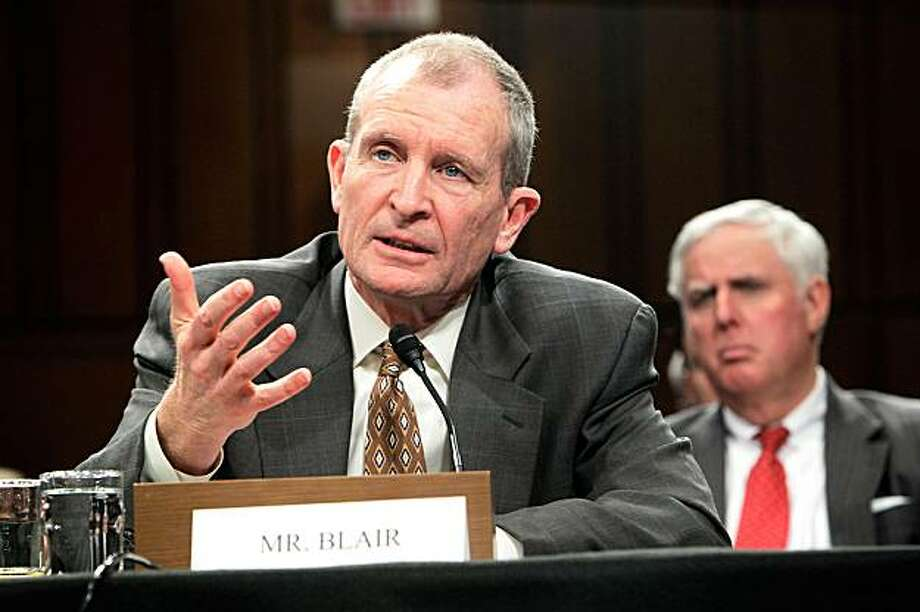 WASHINGTON - FEBRUARY 02:  U.S. National Intelligence Director Dennis Blair testifies during a hearing before the Senate (Select) Intelligence Committee February 2, 2010 on Capitol Hill in Washington, DC. The hearing was to examine current and projected threats to the U.S. Photo: Alex Wong, Getty Images