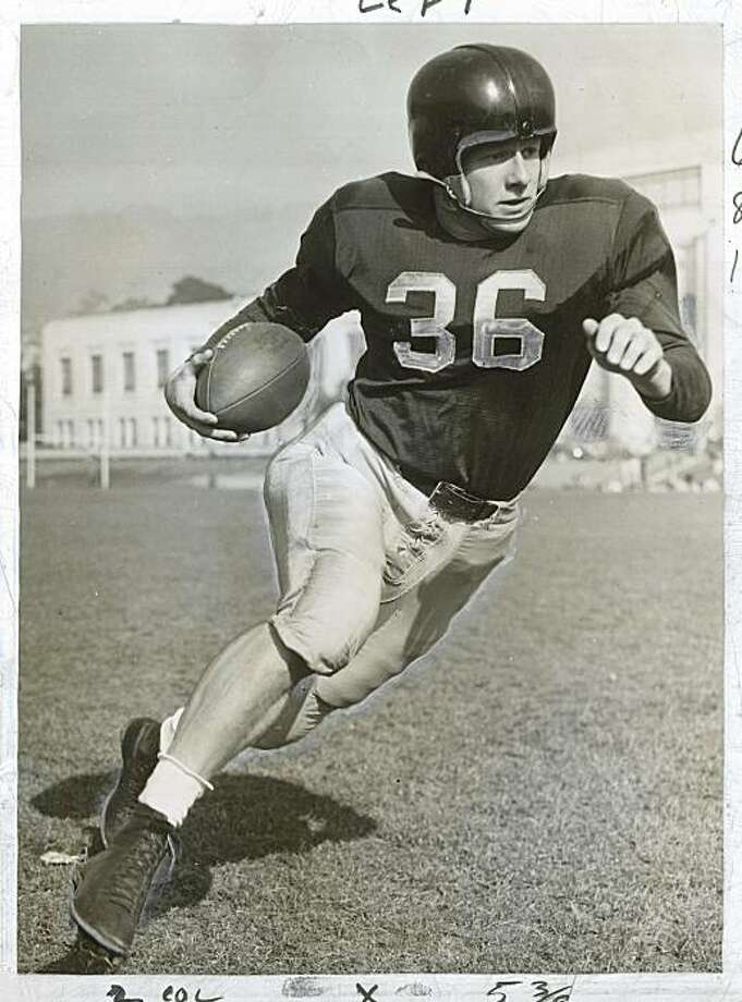 Jackie Jensen played for Cal in the 1940s.  He played both baseball and football.  Photo was taken in 1948. Photo: Archive, Associated Press