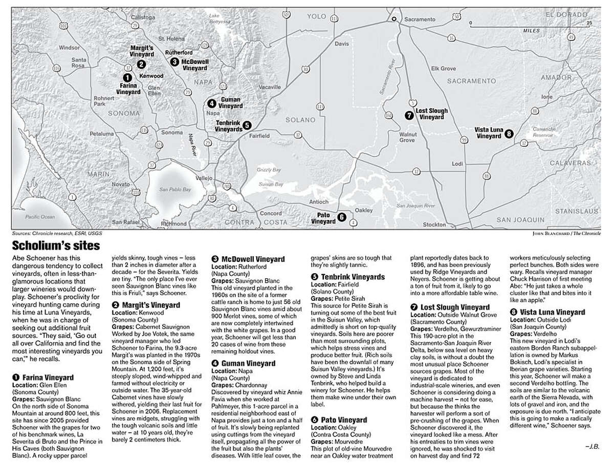 Scholium's sites. (John Blanchard / The Chronicle)