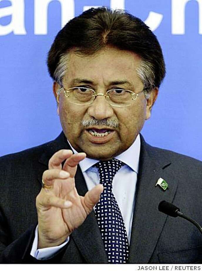 Pakistan's President Pervez Musharraf delivers a speech at the Tsinghua University in Beijing in this April 14, 2008 file photo. Pakistan's ruling coalition, led by the party of slain former prime minister Benazir Bhutto, announced on Thursday it would begin impeachment proceedings against Musharraf. REUTERS/Jason Lee (CHINA) Photo: JASON LEE, REUTERS