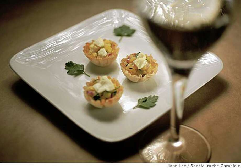 For an easy to prepare hors d'oeuvre, spoon sauteed fresh vegetables into prepared phyllo cups. Styled by Lynne Char Bennett Photo: John Lee, Special To The Chronicle