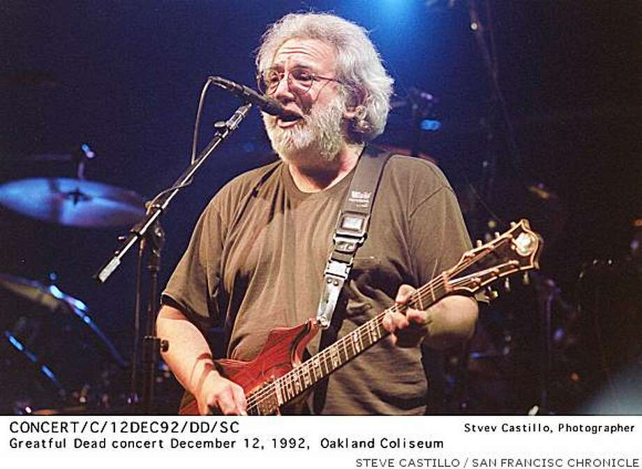 Jerry Garcia plays at a Grateful Dead concert at the Oakland Coliseum on December 12th, 1992. Photo: STEVE CASTILLO, SAN FRANCISC CHRONICLE