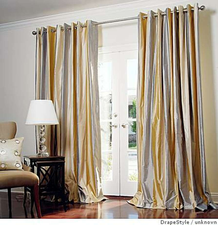strived dupioni silk drapes, VEranda, from Drape Style, $199 a panel Photo: Unknown, DrapeStyle
